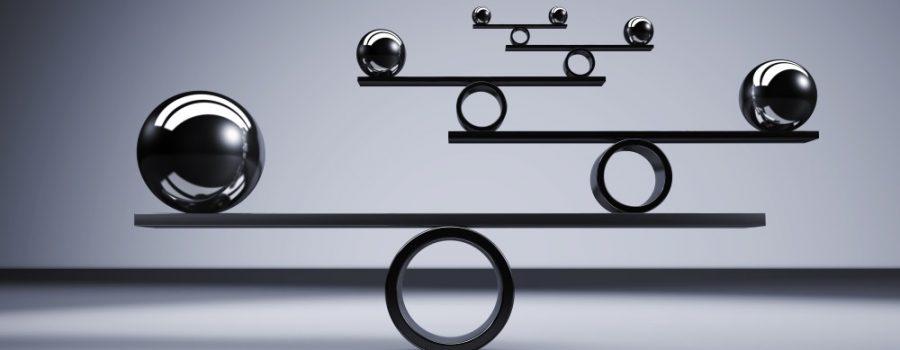 balls balancing to represent strategic approach